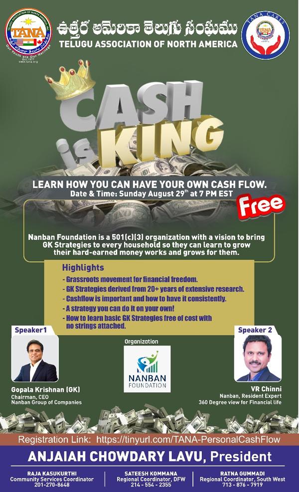 TANA Cash is King - Cash Flow Webinar