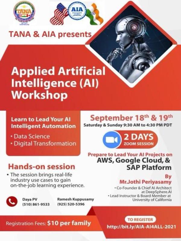TANA & AIA Presents AI Workshop