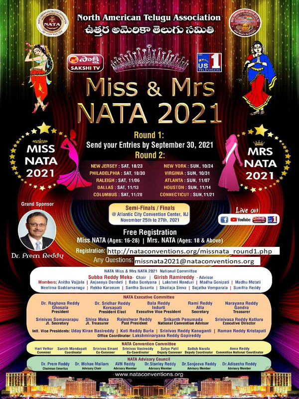 Miss and Mrs NATA Competition 2021